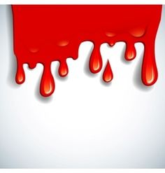 Bloody Font Vector Blood Alphabet Is Isolated On A White