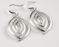 Silver earrings # Fashionable # Earrings
