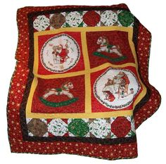 Norman Rockwell Santa Christmas throw quilt by ExpressionQuilts
