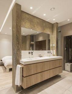 Luxe badkamermeubels met dubbele wasbak