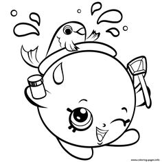 Print FishBowl Shopkins Season 4 Coloring Pages