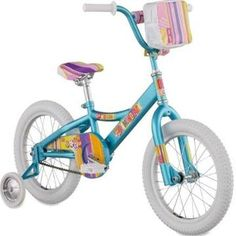 "Diamondback Girl's Mini Impression 16"" Girls' Bike Teal Berry 16 In"
