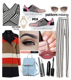 """Dare with patterns"" by ashstylist101 on Polyvore featuring Nicholas, Karen Millen, Karl Lagerfeld, Kate Spade, Gucci, NARS Cosmetics, Smashbox, MAC Cosmetics, Bobbi Brown Cosmetics and patternmixing"