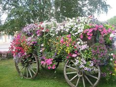 Wagon Flower Bed!