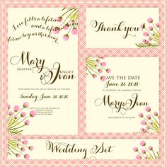"""Wedding invitation, """"Bridal shower announcement"""", """"Save the Date card"""", """"Wedding name card"""", """"Thank you card"""", """"RSVP  response"""".. $18.88, via Etsy."""