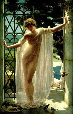 Lesbia . John Reinhard WEGUELIN (1849–1927) English painter and illustrator themaskedlady.blogspot.com