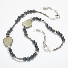 Excited to share the latest addition to my #etsy shop: Already Marked Down - 25% - HURRY off ALL Eyewear Holder Necklaces, Eyewear Chain, Necklace, Holder for Sunglasses and Eyeglasses http://etsy.me/2AnD7Ri #accessories #eyewear #black #silver #chunky #pyrite #blacklabradorite #
