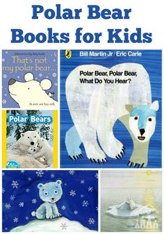 Polar Bear Books for Kids. Do you have any Polar Bear fans in your house? These powerful creatures are a firm favourite around here. I think for kids there is something really magical about the crisp white snowy habitat of the Polar Bear up in the Arctic, which really captures their imaginations. They look pretty cute and cuddly as well don't they?