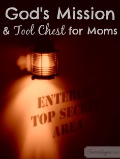 God's Mission & Tool Chest for Moms (Sssshh! TOP SECRET!)