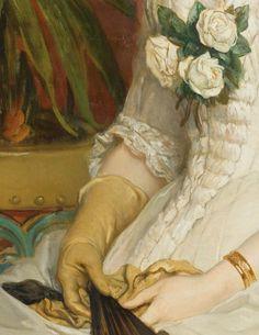 Jean-François Portaels PORTRAIT DE FEMME ASSISE, À L'ÉVENTAIL JEAN-FRANÇOIS PORTAELS ; PORTRAIT OF A SITTING WOMAN, HOLDING A FAN