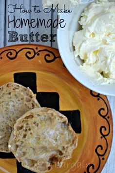 How to Make Homemade Butter in 15 minutes- This is the yummiest, creamiest butter ever and actually really fun to make.
