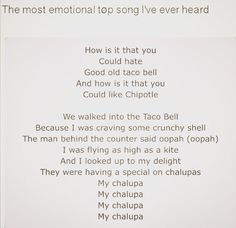 (But I hate Taco Bell and I love Chipotle. So there.)<<< fite me << how is it that you could hate the good old Taco Bell?