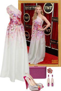 """Natalie Dormer – 2015 SAG Awards."" by foreverforbiddenromancefashion ❤ liked on Polyvore"