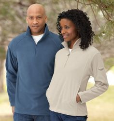 Promotional Products Ideas That Work: LADIES' MICROFLEECE HALF-ZIP. Made in North America. Get yours at www.luscangroup.com
