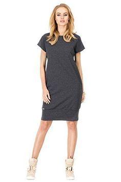 Futuro Fashion Sensible Maternity Shift Dress Short Sleeve Crew Neck FA384 Graphite 10 UK (M) Asin: B00W58N8XG Ean: