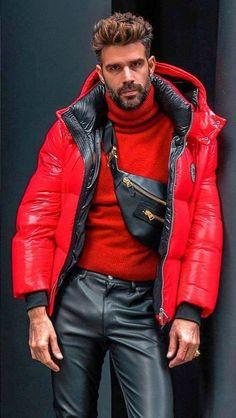 Mens Leather Pants, Tight Leather Pants, Fashion Men, Leather Fashion, Lederhosen, Cool Jackets, Men's Hair, Hairy Men, Stylish Men