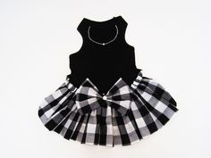 Dog Clothes Dog dresses tank style Black and