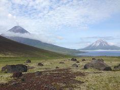 Cleveland and Carlisle volcanoes in Alaska. (Photo: Anne Fulton via U.S. Geological Survey)