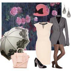 """""""Rainy Monday in pink"""" by maria-kuroshchepova on Polyvore"""