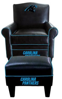 Use this Exclusive coupon code: PINFIVE to receive an additional 5% off the Carolina Panthers Leather Game Time Chair and Ottoman at SportsFansPlus.com
