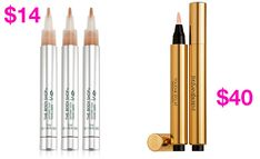 The Body Shop Lightening Touch vs. YSL Touché Eclat Undereye Concealer and Brightening Pen