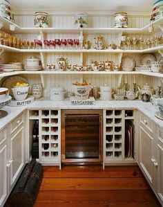 Dish and glassware pantry.