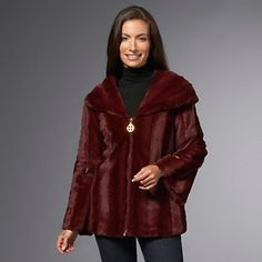 IMAN Platinum Collection Luxury Mink Faux Fur Jacket at HSN.com.