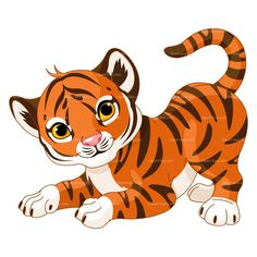 Clipart Baby Tiger Royalty