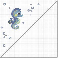 Seahorse Cross Stitching / Seepferdchen Kreuzstich