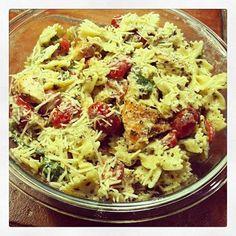 Grilled Chicken & Pesto Farfalle