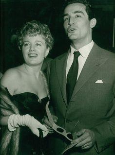 Shelly Winters and husband, Vittorio Gassman