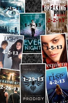 Dystopian Book Release Dates! I just bought three of these books today!