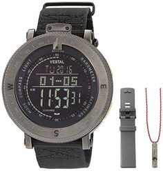 Men's Wrist Watches - Vestal Mens GDEDP08 Guide Digital Display Quartz Black Watch * Read more at the image link. (This is an Amazon affiliate link)