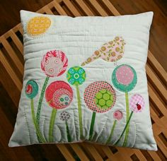 Cute mod flower pillow