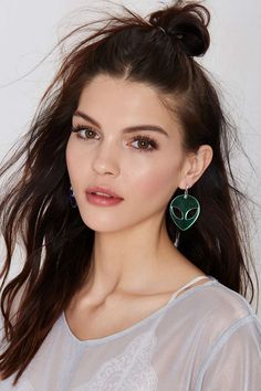 Suzywan Deluxe Spaced Out Iridescent Earrings