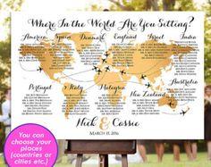 Bruiloft zitplaatsen grafiek  RUSH SERVICE  gouden door HappyBlueCat