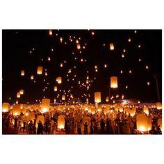 floating fire lanterns!