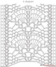 Watch This Video Beauteous Finished Make Crochet Look Like Knitting (the Waistcoat Stitch) Ideas. Amazing Make Crochet Look Like Knitting (the Waistcoat Stitch) Ideas. Filet Crochet, Crochet Stitches Chart, Crochet Lace Edging, Crochet Motifs, Crochet Borders, Irish Crochet, Crochet Doilies, Crochet Tunic, Crochet Flowers