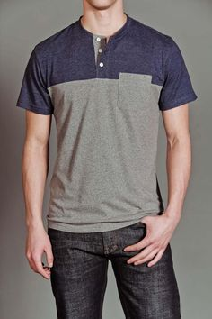 Goodale Blocked Henley Shirt