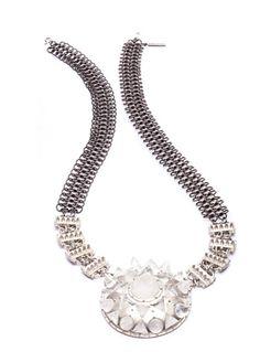 Star Pendant With Chainmail Straps by Eddie Borgo Eddie Borgo, Chain Mail, Star Pendant, Cocktail Rings, Wedding Jewelry, Jewels, Stars, Diamond, Stylish
