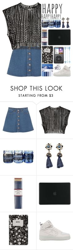 """""""🎼."""" by parkmona ❤ liked on Polyvore featuring Monki, i am a, Tucano, Design Letters and NIKE"""