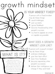Growth Mindset FREEBIE by Sarah Gardner | Teachers Pay Teachers