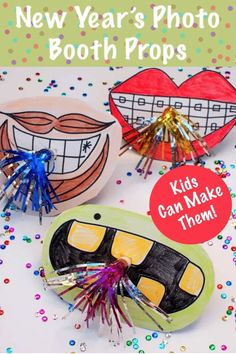 Create unique New Year's photo booth props with giant mouths! They're so cute and easy to make. The kids will want to help out too! New Year's Crafts, Crafts For Kids, Creative Inspiration, Daily Inspiration, Creative Ideas, Diy Ideas, New Year Photos, Diy Shops, New Year Celebration