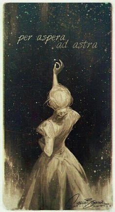 Per aspera ad astra • through difficulty to the stars