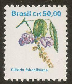 Francobollo: Brazilian Flora. Clitoria fairchildiana (Brasile) (Flora) Mi:BR 2364,Yt:BR 1964,RHM:BR 681