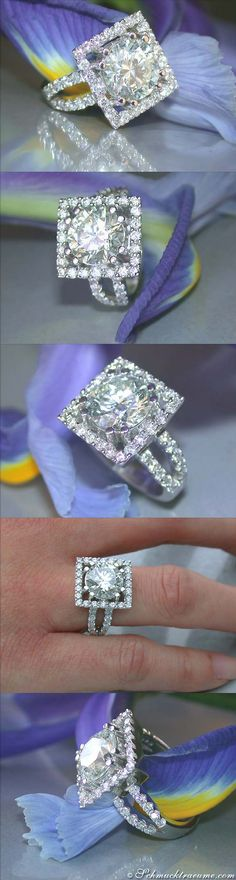 Luxury Diamond 3.41cts.-Solitaire Ring - Visit: schmucktraeume.com - Like: https://www.facebook.com/pages/Noble-Juwelen/150871984924926