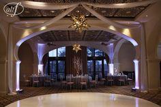 Modern Purple Wedding in Las Vegas  Photo by Altf  |  Decor by Naakiti Floral  |  Las Vegas Wedding Planner Andrea Eppolito Events