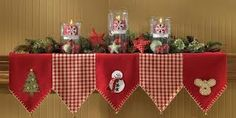 quilted christmas mantle scarf pattern - Google Search
