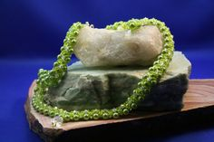 The Green Goddess Necklace and earrings by AWJEWELRYANDBEADWORK, $150.00
