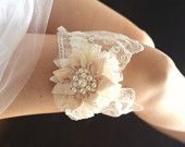 heirloom ivory wedding garter romanticrona etsy  i want to get married again so that i can have this garter. so beautiful!